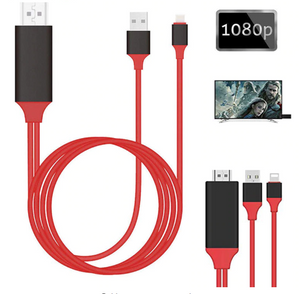 8-Pin iPhone/USB to HDMI Converter Cable