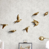 Punch-Free 3D Bird Figurines Wall Hanging