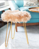Luxe Faux fur stool