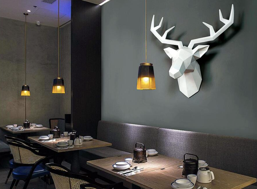White Nordic Deer Wall Decor