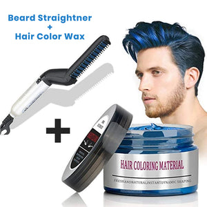 Beard Straightner  + Hair Wax COMBO