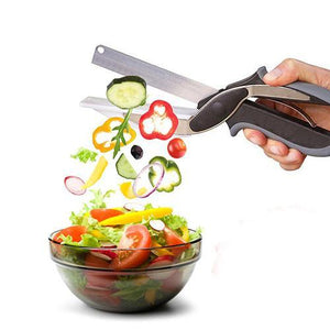 Clever Cutter 2-in-1 Food Chopper Multi-functional Kitchen Vegetable Scissor