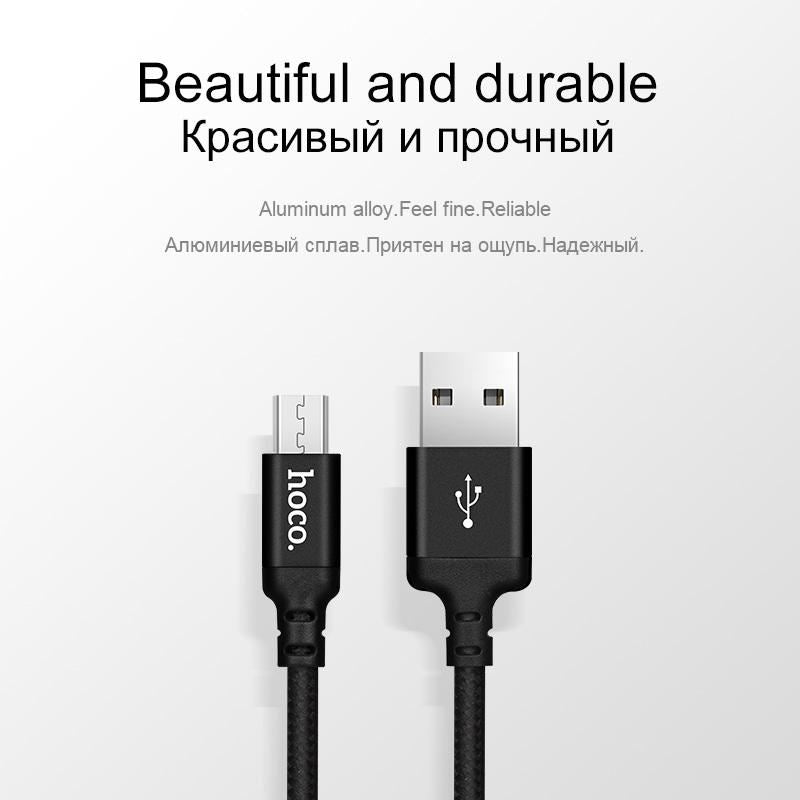 Hoco Micro Usb Cable 1M 5V2A Fast Charger Data For Samsung Xiaomi Huawei - -
