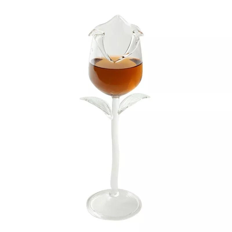 Rose Flower Shape Wine Glass