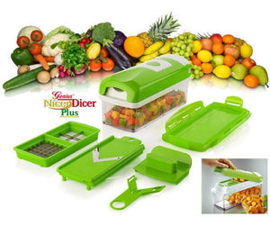 One Second Slicer - All in One Vegetable Slicer (10 Pcs Set) (स्लाइसर डाइसर)