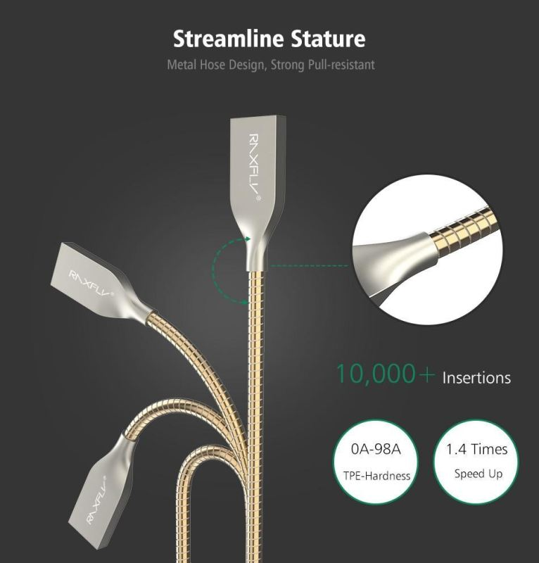 Premium Unbreakable Zinc Alloy Ios Cable - -