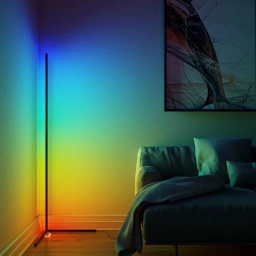 Modern LED RGB Corner Floor Lamp