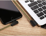 Rock L Shaped Kevlar Unbreakable Super Cable (Iphones/ipads) - -