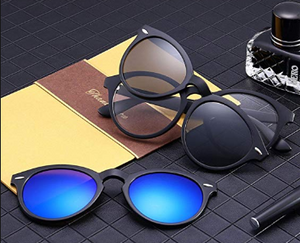 5-in-1 Magnetic Clip On Sunglasses For Men & Women