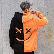 Hallyu Street Black And Orange / S Hoodie Coréen SMILY™