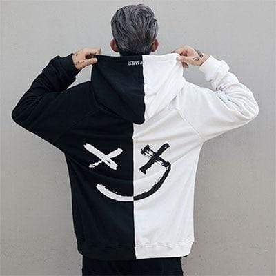 Hallyu Street Black And White / S Hoodie Coréen SMILY™