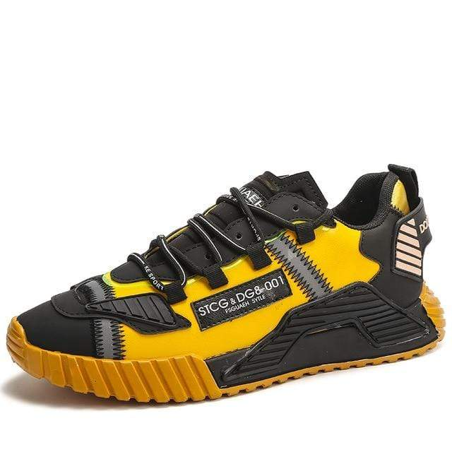 Hallyu Street Chaussures Noir / Jaune / 43 BASKETS SNEAKERS COLOR-FULL™