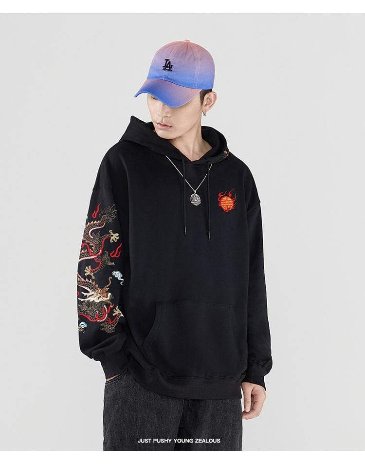 Hallyu Street Hoodies Hoodie Coréen Brodé BURN-IT™