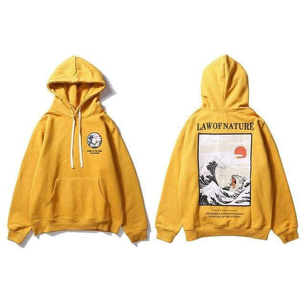 Hallyu Street Hoodies Jaune / L Hoodie LAW OF NATURE™