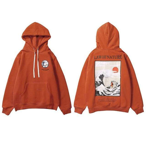 Hallyu Street Hoodies Marron / L Hoodie LAW OF NATURE™