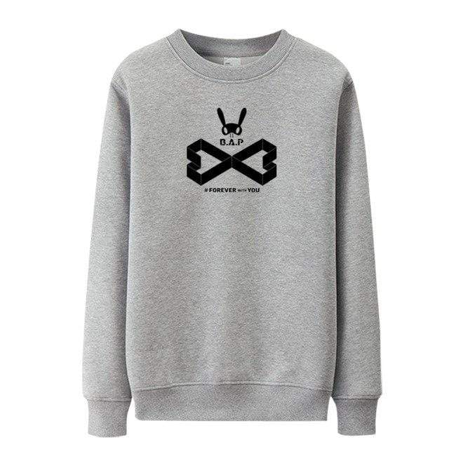 Hallyu Street Sweatshirts Gris / S Sweatshirt Forever With You B.A.P™
