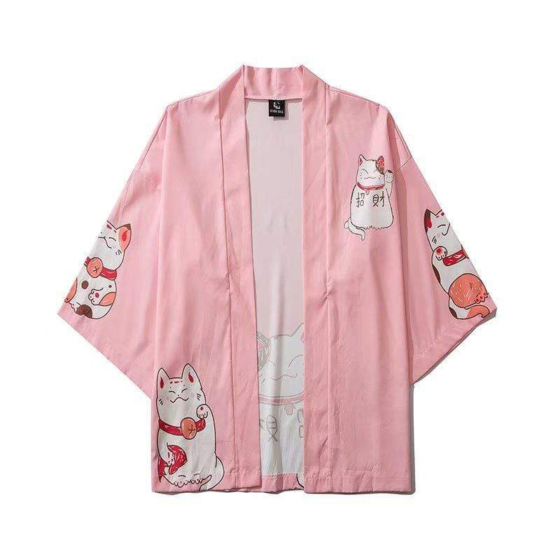 Hallyu Street Vestes Rose / M Veste Kimono Welcome Kitty™
