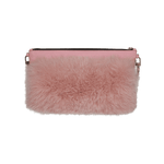 PINK ICING FUR SHOULDER TOTE