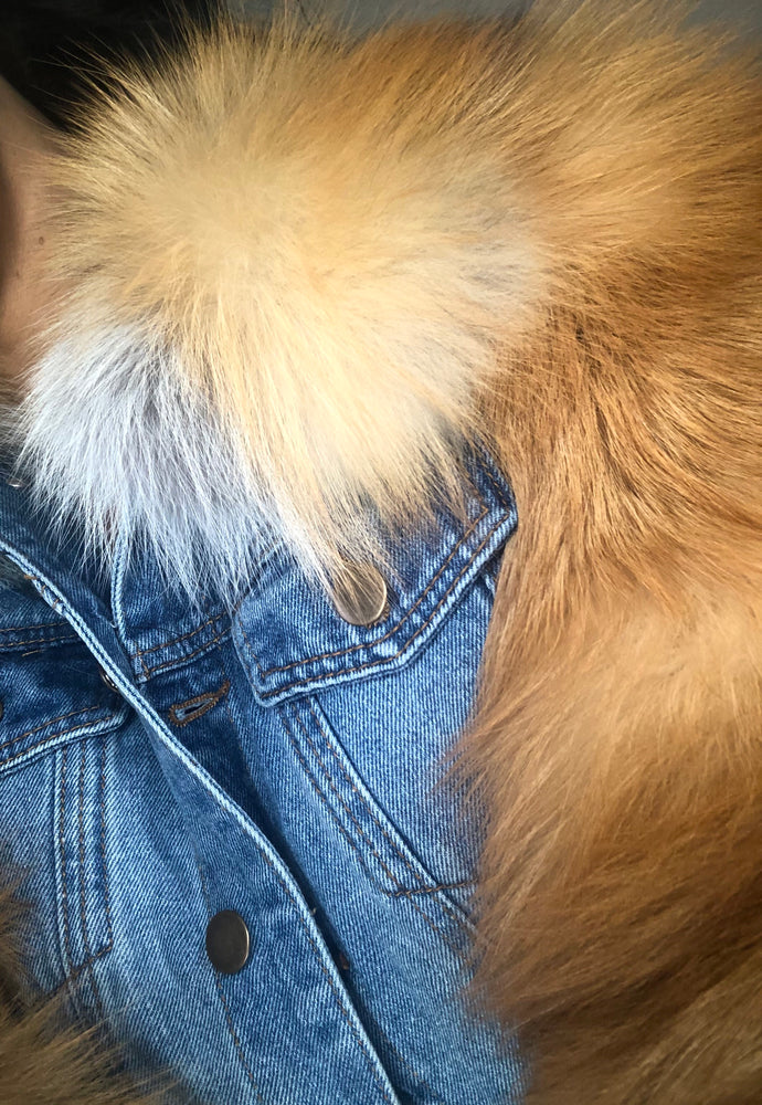 DENIM & FUR JACKET