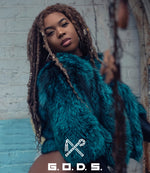SHADOWED TURQUOISE FOX BOMBER