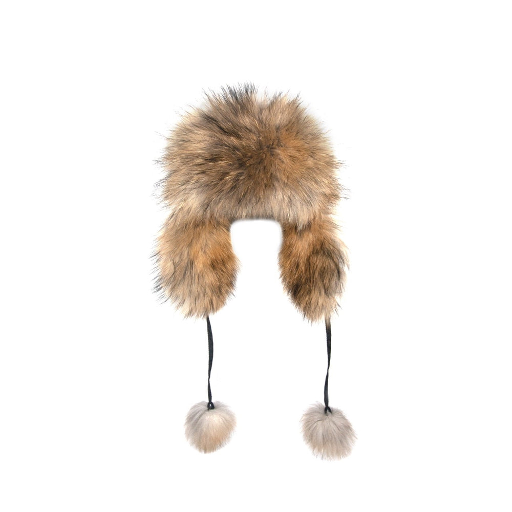 TRAPPER HAT RED FOX FUR