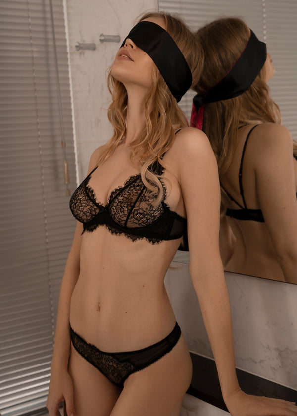 CANDACE BLACK SHEER LACE BRA