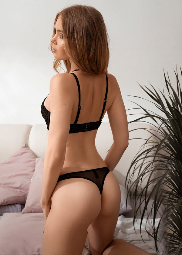 KIRSTEN LACE THONG - Innate Intimates