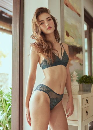 FRANCES TRIANGLE BRA GREEN - Innate Intimates