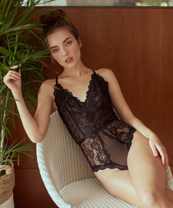 FAE BODYSUIT BLACK - Innate Intimates