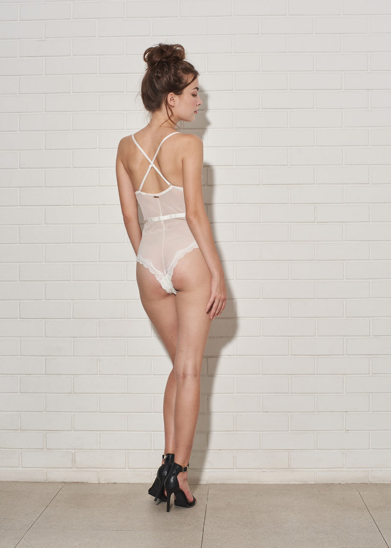 FAE BODYSUIT WHITE - Innate Intimates