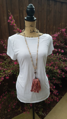 Olympia Reclaimed Silk Necklace