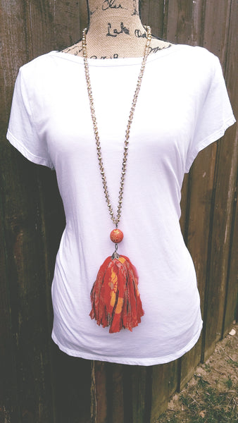 Oriana Reclaimed Silk Necklace
