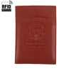 RFID Leather Passport Case