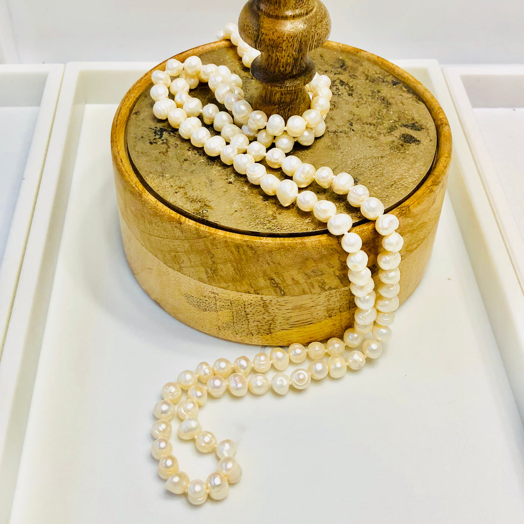 Double-Wrap Pearl Necklace
