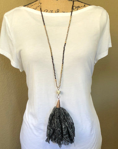 Paige Reclaimed Silk Necklace