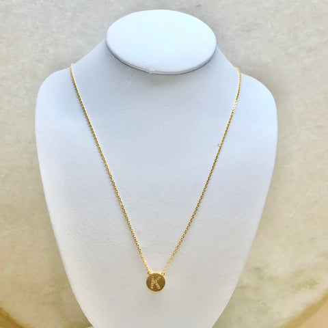 CZ Initial-Disc Necklace