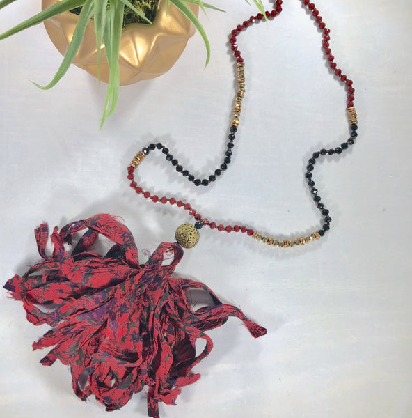 Patricia Reclaimed Silk Necklace