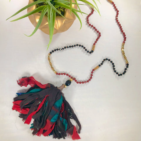 Pauletta Reclaimed Silk Necklace