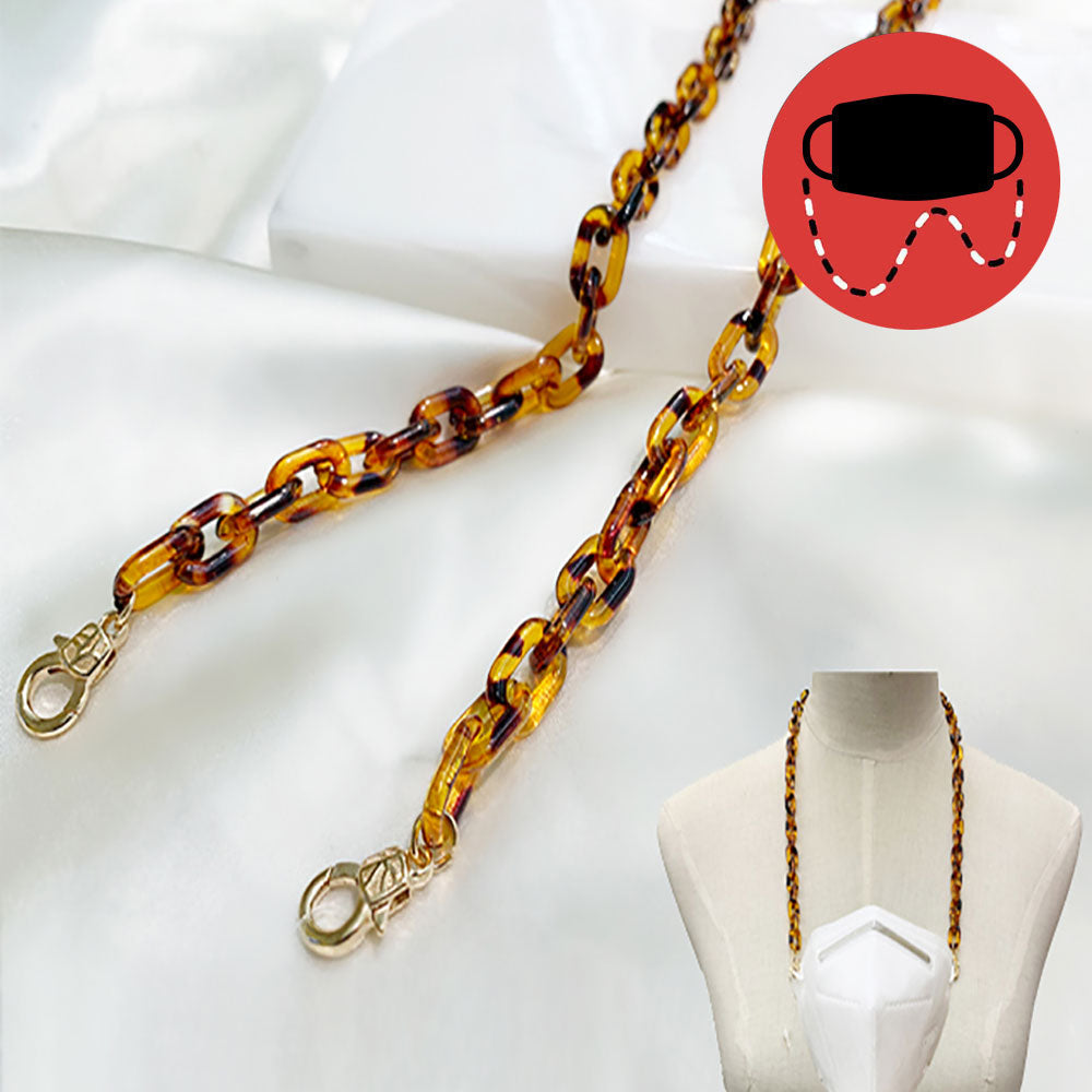 Resin Oval Link Mask/Glasses Chain