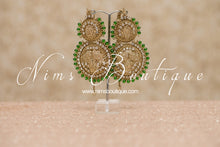 Madhubala Antique Gold & Green Bridal Set