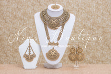 Madhubala Antique Gold & Gold Bead Bridal Set