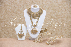 Madhubala Antique Gold & Pearl Bridal Set
