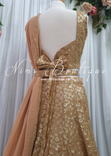 Luxury Gold Sequin Bow Lehnga (various sizes)