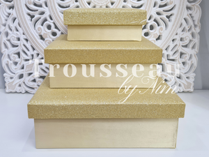 Luxury Gold Glitter Silk Gift Box Set