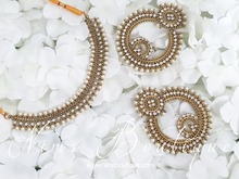 Nargis Royal Pearl & Antique Gold earrings