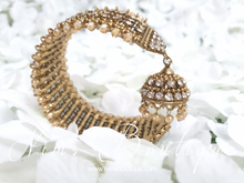 Gold & Clear stone Royal Bracelet with chumka