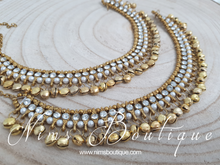 Antique Gold Ghungroo Anklets with Bells