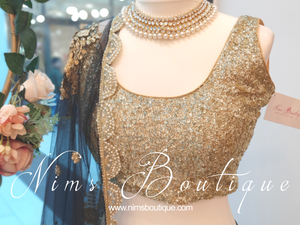 Luxury Gold Sequin Sleeveless Blouse Short (various sizes)