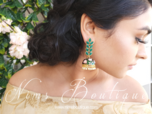 Dark Green Blossom Chumke earrings