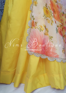 Readymade Yellow Silk skirt/lehnga (various sizes)